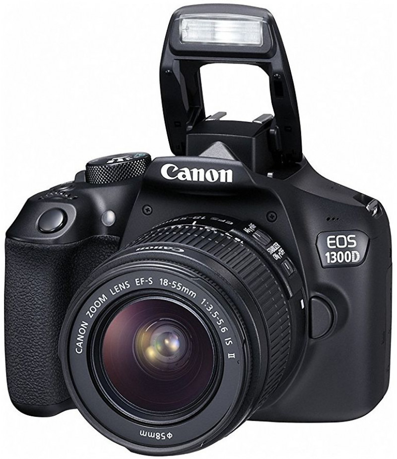 Canon EOS 1300D Lens Kit- 18 MP, DSLR Camera, 18 - 55mm 3.5-5.6 IS II, Black