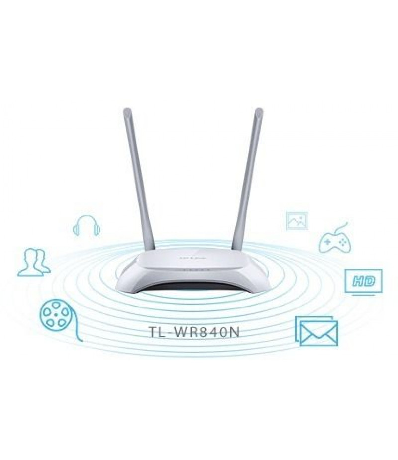 TP-Link TL-WR840N 300 Mbps Wireless N Router - White