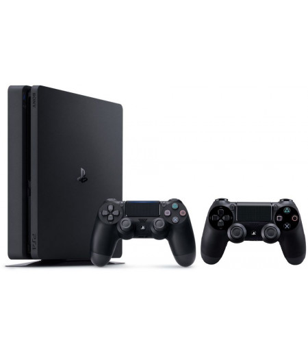 Play Station 4 - 500GB Hard Drive - 2 Wireless Controllers - Black