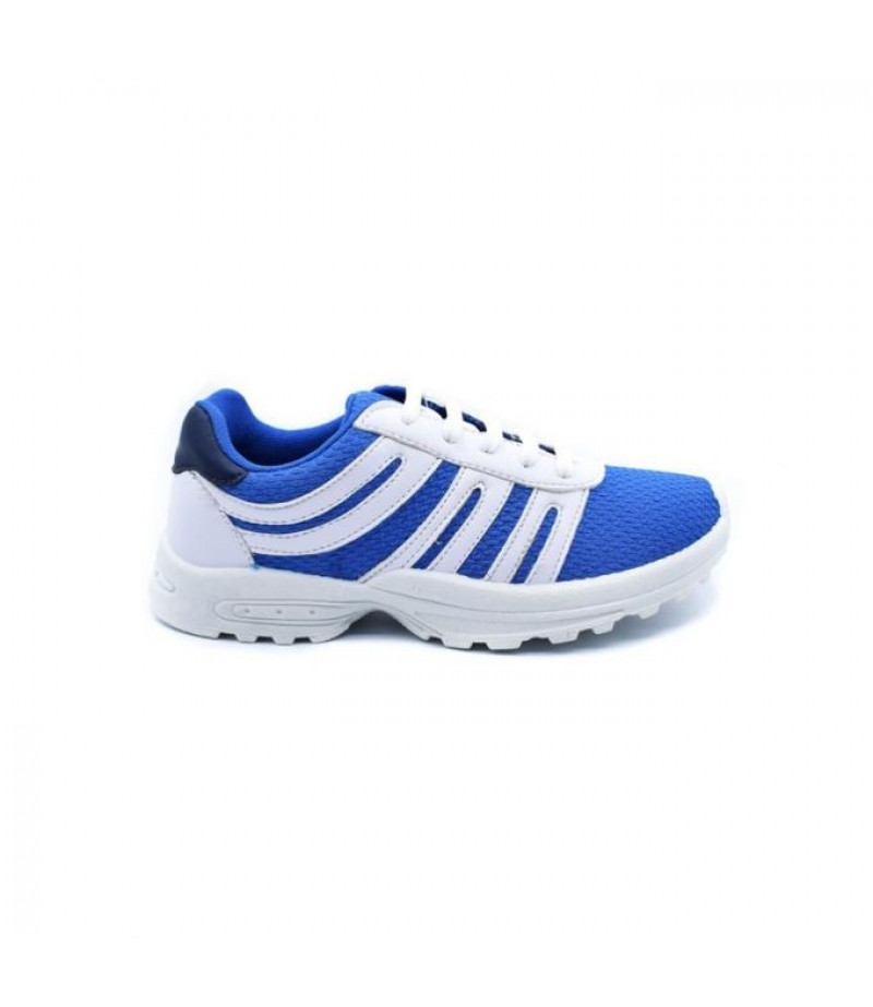 SHOES CLUB Canvas Lace Up Sneakers - Blue